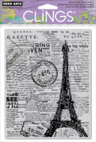 Cling - Newspaper Eiffel Tower