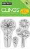 Cling - Curly Flowers