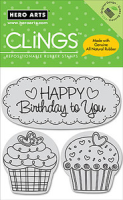 Cling - Happy Birthday Cupcakes