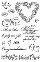 Two Hearts Wedding Clear Set