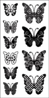 Clear Set - Pattern Butterflies