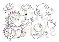 Hedgehog Popping Bubbles