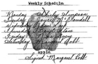 Weekly Schedule - Vintage Apple