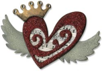 Sizzix Bigz Bigkick/Big Shot Die - Tim Holtz Heart Wings