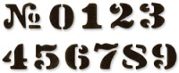 Sizzix Movers & Shaper Magn. Die - Tim Holtz Cargo Stencil Numbers