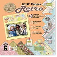 Retro 8 x 8 Papiersortiment