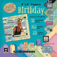 Birthday 8 x 8 Papiersortiment
