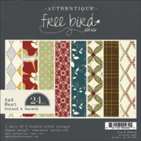 "Free Bird Double-Sided Paper Pad - Poised & Warm 6"" x 6"""