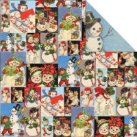 Papier Dear Santa - Snowman Collage