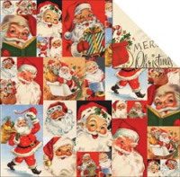 Papier Dear Santa - Santa Collage