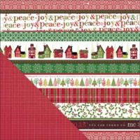 Papier Wonder Wishes - Home for Christmas /Red Check