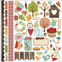 Harvest Lane - Cardstock Stickers Fundamental