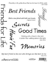 "Adhesive Vellum Quotes ""Friends"""