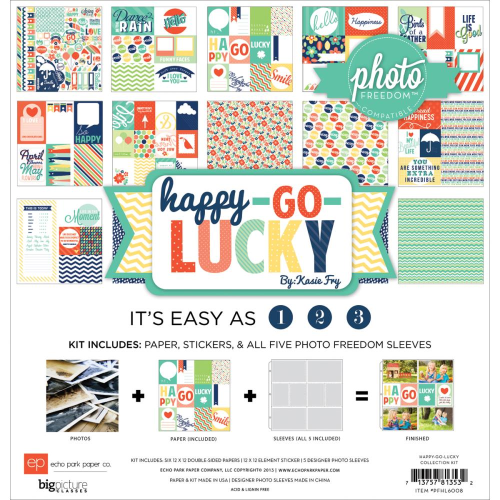"Photo Freedom Happy Go Lucky Collection Kit 12""X12"""