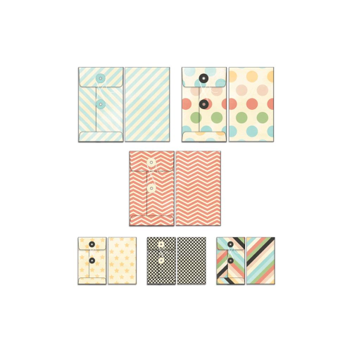Memories Captured Patterned Envelopes 6/Pkg