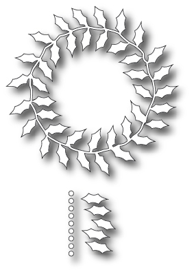 Stanzschablone Fabulous Holly Wreath