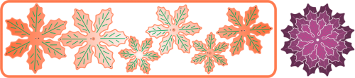 Stanzschablone Poinsettia Strip