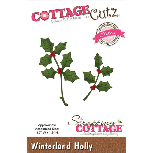 Stanzschablone - Winterland Holly