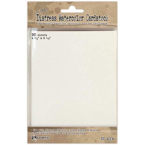 "Ranger Distress Watercolor Cardstock (20 Pack) 4.25""x5.5"""