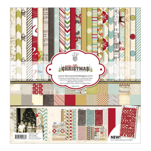 "Merry Little Christmas Collection Kit 12""X12"""