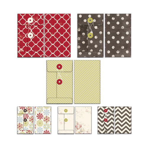 Merry Little Christmas Patterned Envelopes