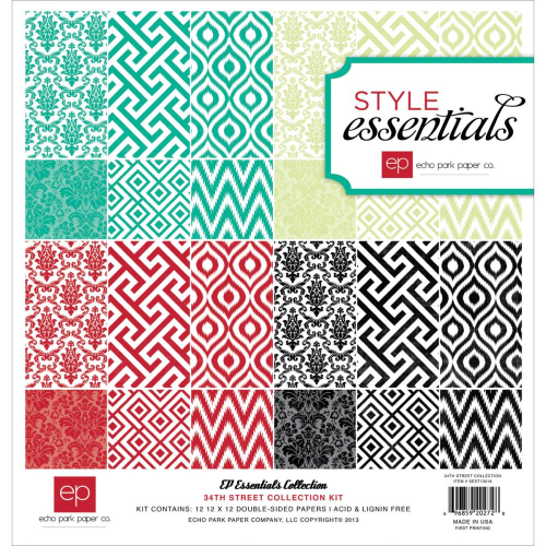 "Style Essentials 34th Street Collection Kit 12""X12"""
