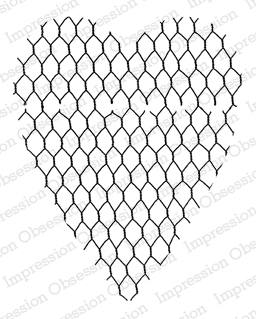 Cling - Chicken Wire Heart
