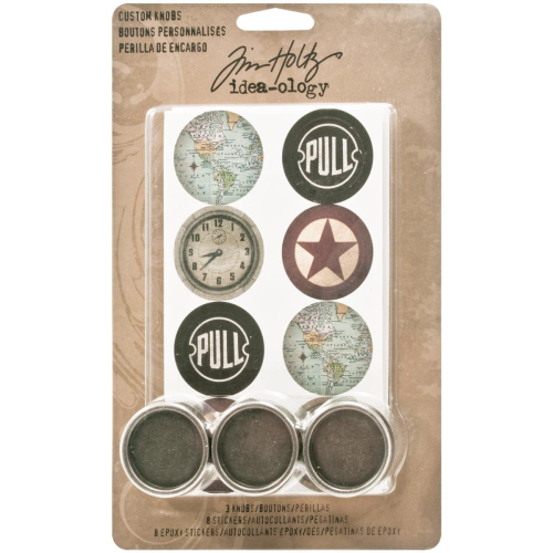 Tim Holtz - Custom Metal Knobs 1.25""