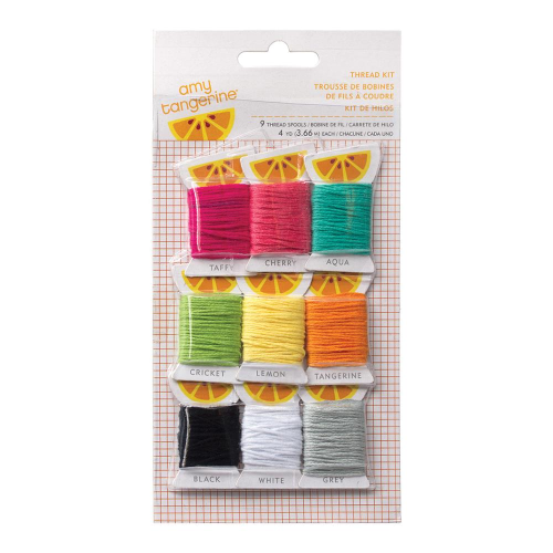 Amy Tangerine Plus One Embroidery Stencil Thread Kit