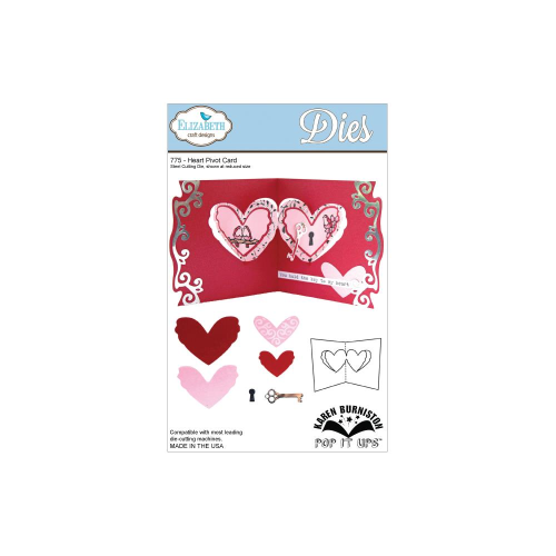 Pop It Up Metal Dies - Heart Pivot Card