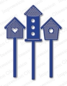 Stanzschablone Birdhouse Set