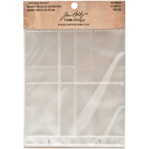 "Tim Holtz -  2-Hole Page Pockets 7.25""X6.26"""