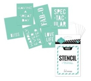 "Heidi Swapp 3""X4"" Mini Stencil Kit - Words"