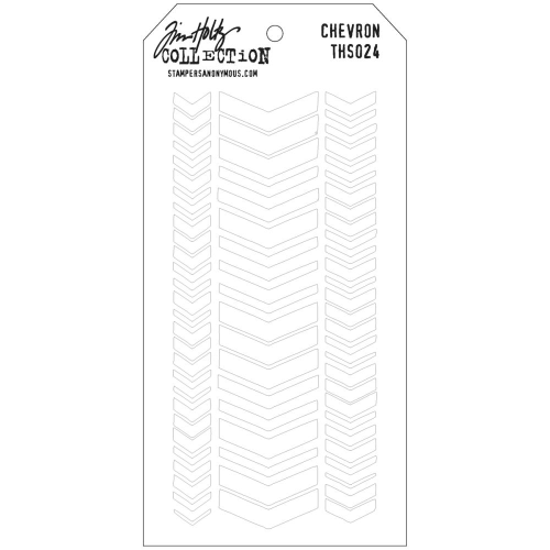 Tim Holtz Layered Stencil - Chevron