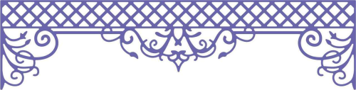 Stanzschablone Lattice Valance Border
