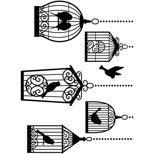 Prägeschablone Bird Cages