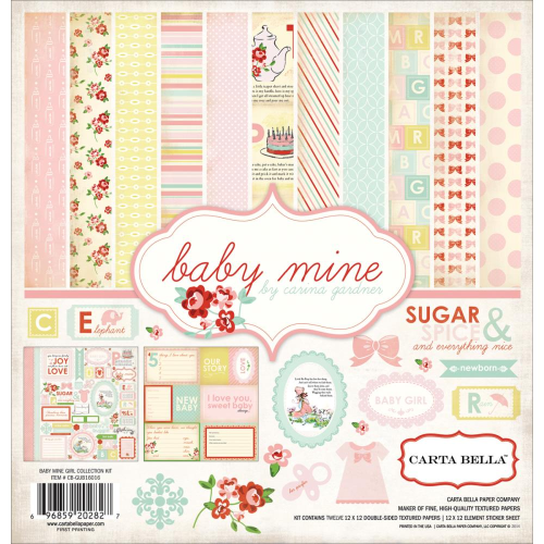 "Baby Mine Girl Collection Kit 12""x12"""