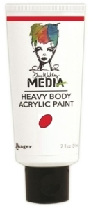 Dina Wakley Media Heavy Body Acrylic Paint - Ruby