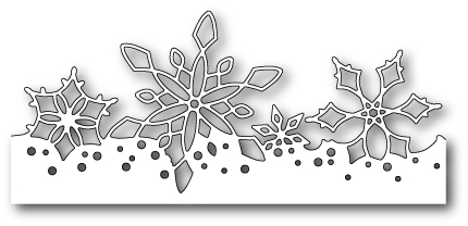 Stanzschablone Winterflake Border
