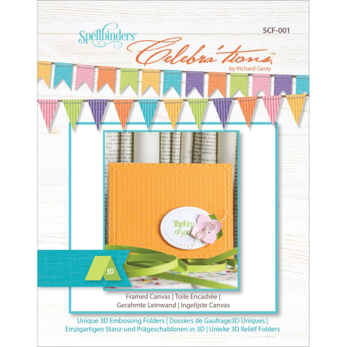 Spellbinders Celebra'tions Embossing Folder - Framed Canvas