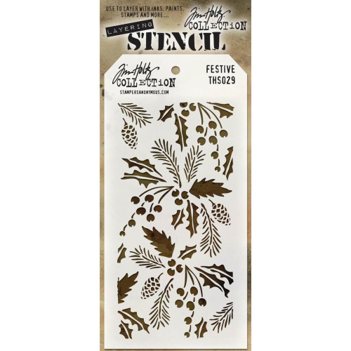 Tim Holtz Layered Stencil - Festive