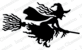 Stanzschablone Witch Flying