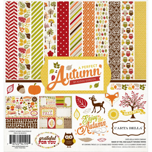 "A Perfect Autumn Collection Kit 12""x12"""