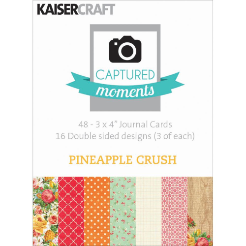 "Captured Moments Double-Sided Cards 3""X4"" - Pineapple Crush"