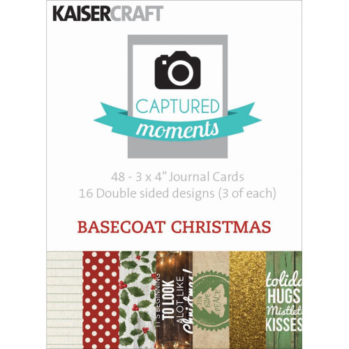 "Captured Moments Double-Sided Cards 3""X4"" - Basecoat Christmas"