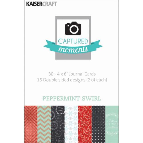 "Captured Moments Double-Sided Cards 4""X6"" - Peppermint Swirl"