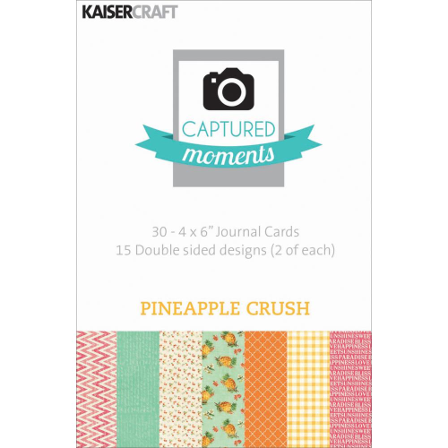"Captured Moments Double-Sided Cards 4""X6"" - Pineapple Crush"