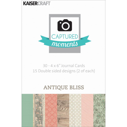 "Captured Moments Double-Sided Cards 4""X6"" - Antique Bliss"