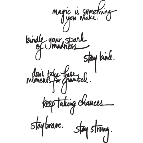 Handwritten Quotes (Cling Set)