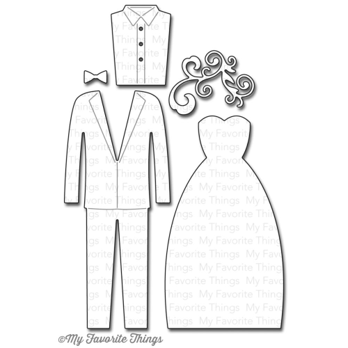 Stanzschablone - Bride & Groom